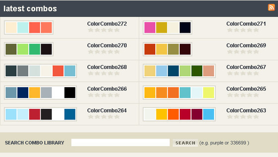 45 free and effective color palette and color scheme for Web page color palette