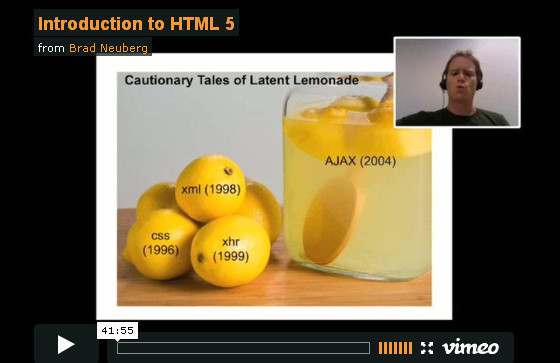 Comprehensive video tutorial on HTML5