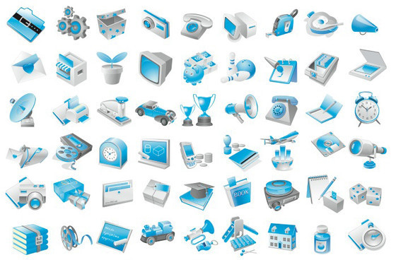 Free Vector Blue Icons