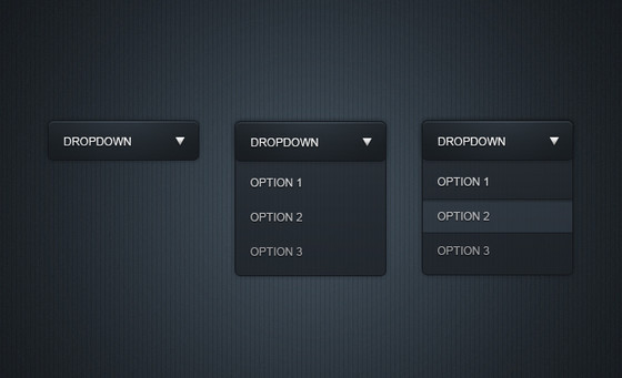Sleek dropdown menu