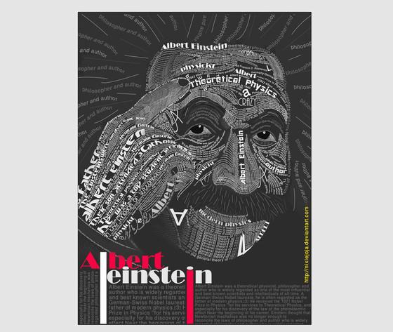 Albert Einstein Typography