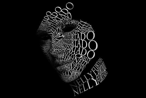 Nelly Furtado Typographic Portrait