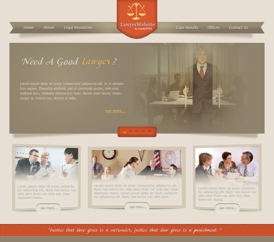 How to design a law/justice website in Photoshop