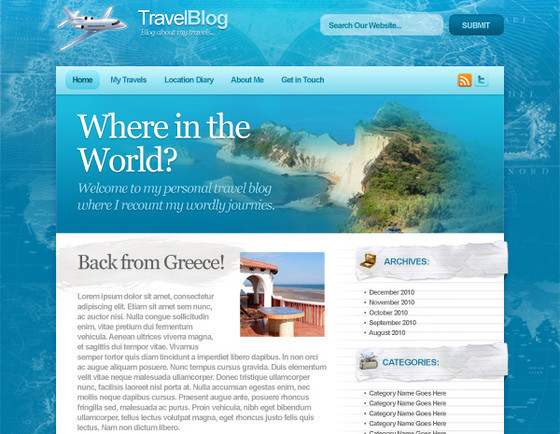 Design a Sleek, Professional Travel Blog