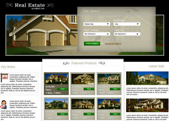 Create a Real Estate Web Layout in Photoshop