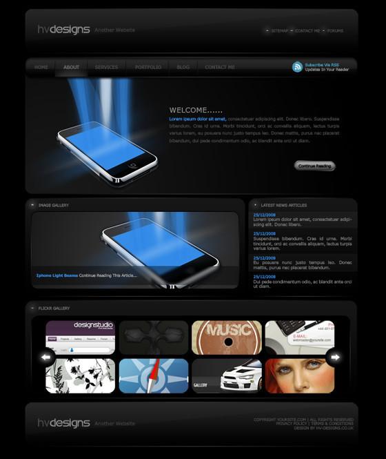 Dark Style Web Template