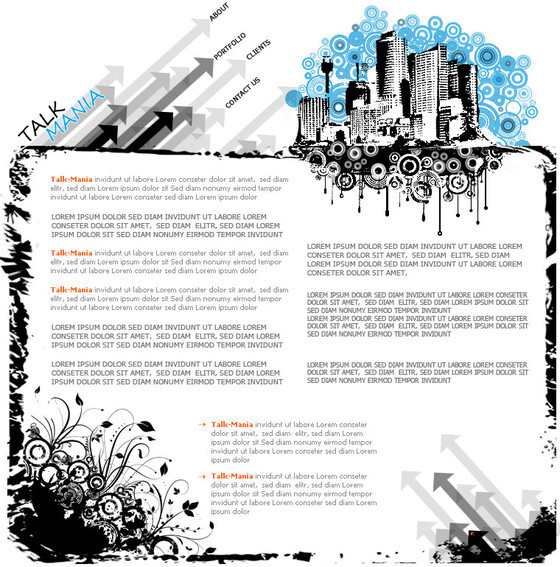 Urban layout perfect for Web Design Company
