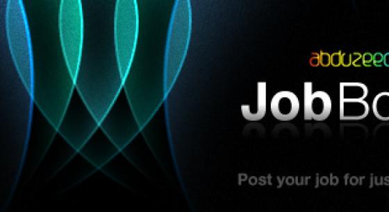 Abduzeedo Job Board banner