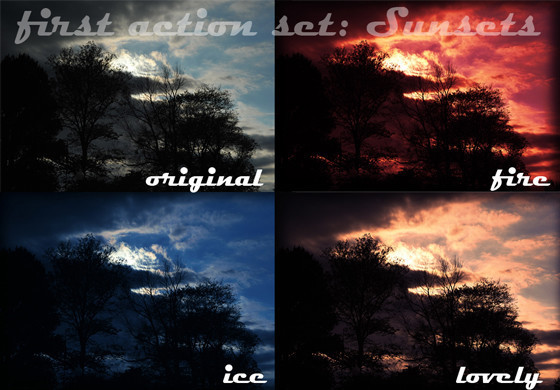 Vibrant Sunsets Action Set