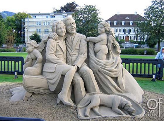 Sand sculpture CH-08-2 Uldis Zarins