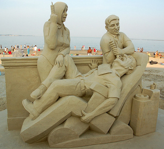 Sand Sculpture -A Visit to The Denist