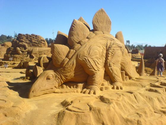 Dinosaur Sand Sculptures