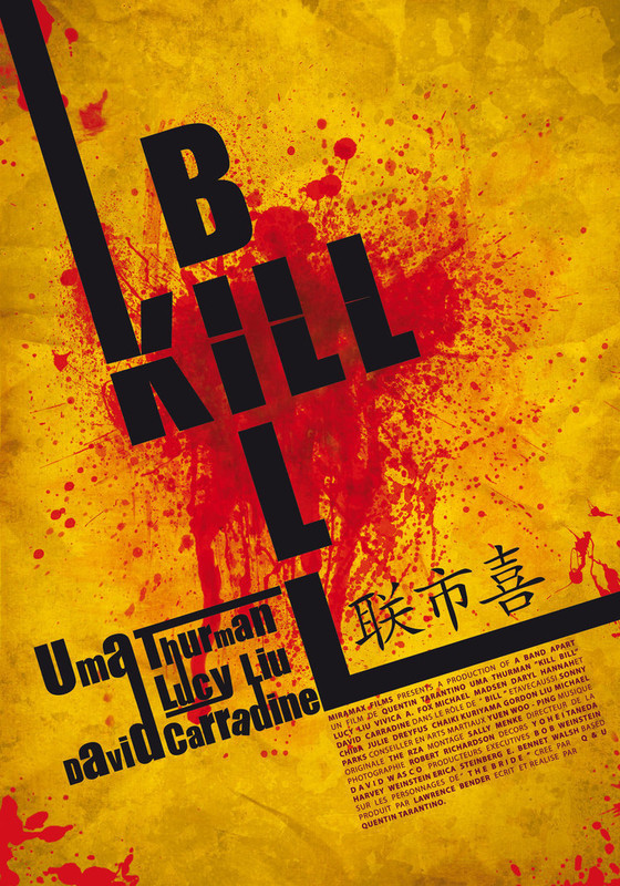 Kill Bill Typographic Poster