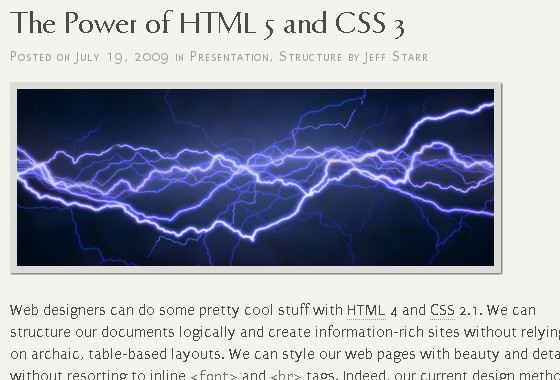 The Power of HTML 5
