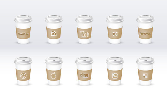 Social Icon Set ~ Eco-friendly