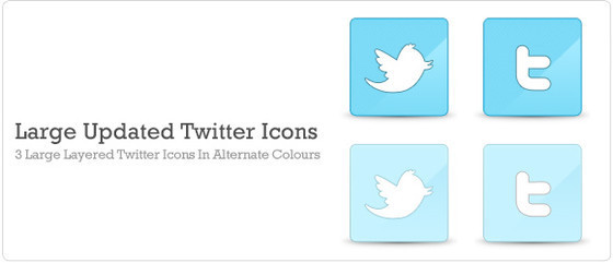 Large Updated Twitter Icons