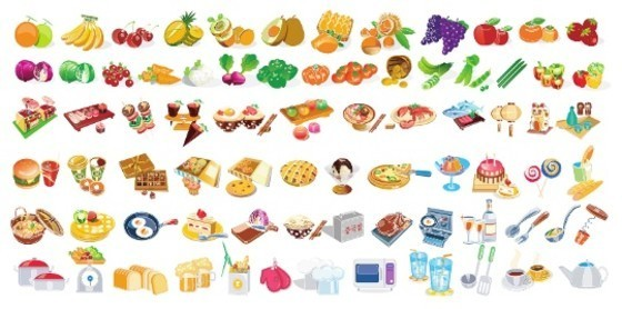 Cool collection of Vector Food Icons