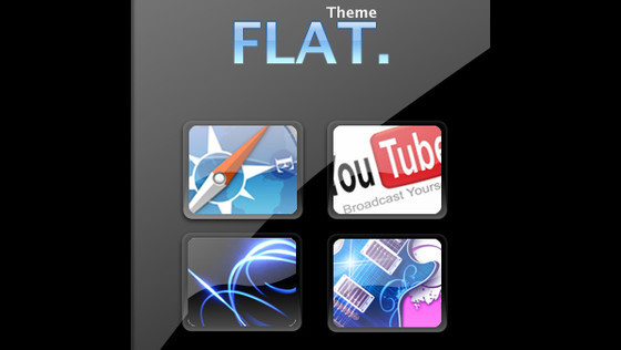 FLAT theme for iPhone