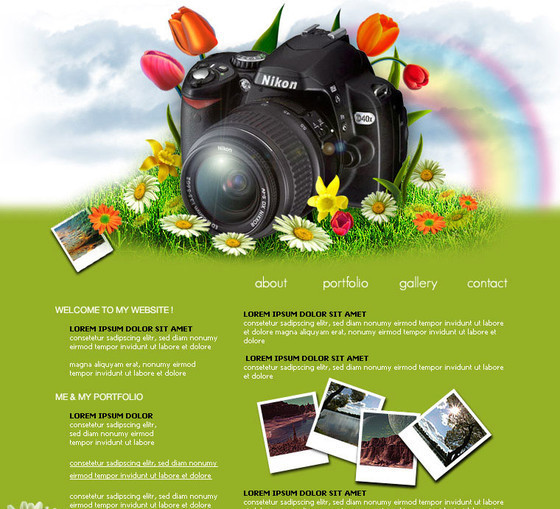 Photographer layout