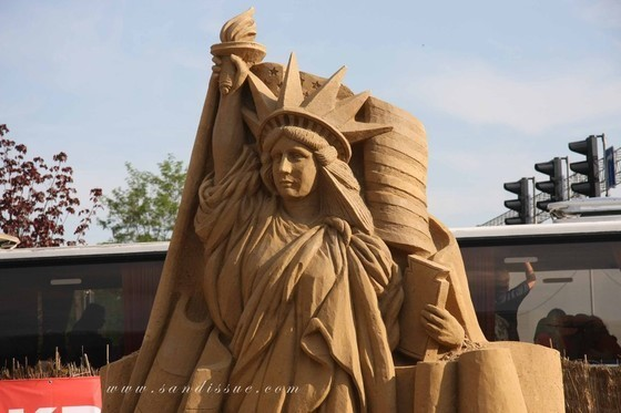 Statue of Liberty in Sand