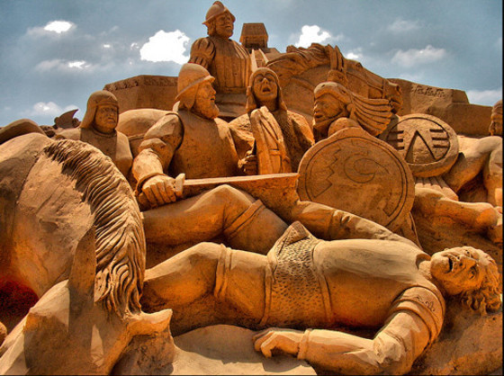 Sand sculpture Festival in Algarve (Fiesa)